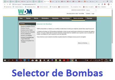 Selector de Bombas Sitio WDM Pumps ►