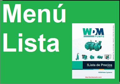 Menú Lista USD y MXN