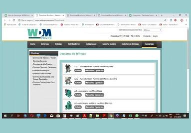 Descargas WDM Pumps - Sitio ►
